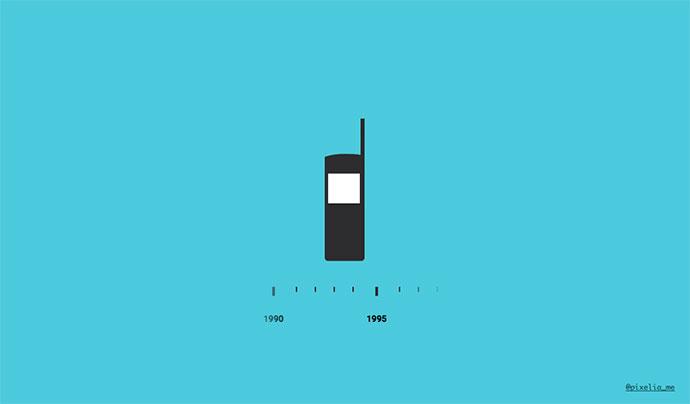 Mobiltelefonens Evolution (SVG Shape Morphing)