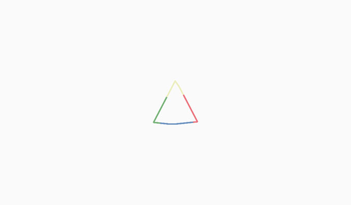 morphing shape with spinning color stroke (svg + canvas)