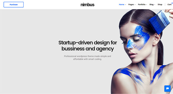 Nimbus - Modern Businesses and Startups WordPress Theme