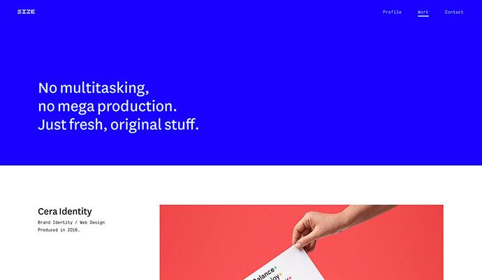 Size Agency Website