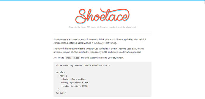 Shoelace.css