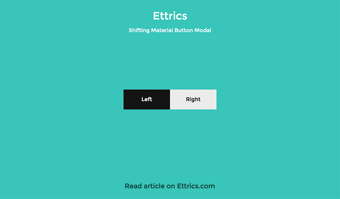 Shifting Material Button Modal
