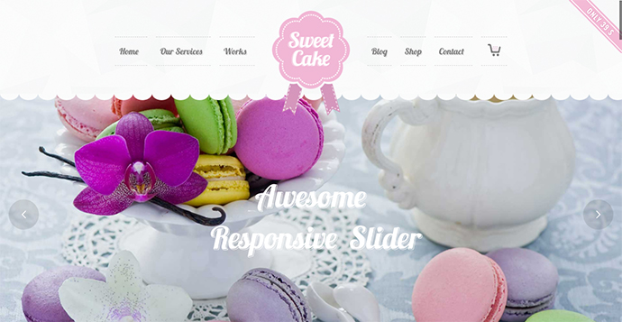 Sweet Cake - WP Theme For Bakery Yogurt Chocolate & Coffee Shop
