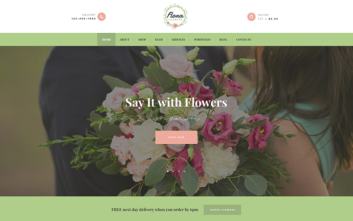 Flowers Boutique and Florist Theme