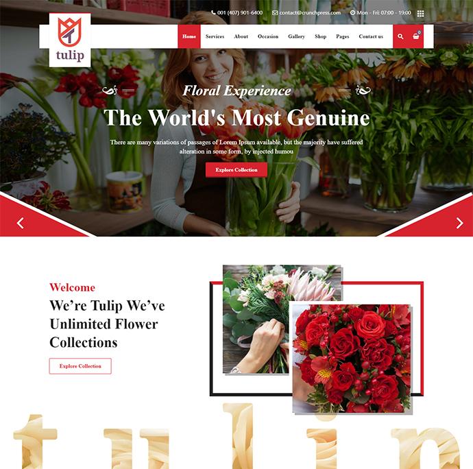 Tulip - Flower Shop & Gardening Service WordPress Theme