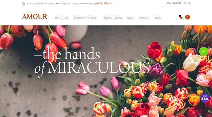 Amour - Shop WordPress theme - Flower - Jewelry - Handmade - Gift