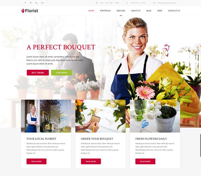 Florist - Florist & Landscaping WP Theme