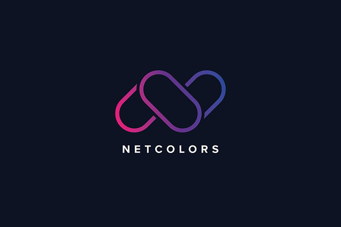 N Letter Colors Logo Template