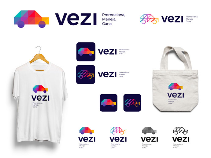 Logo for vezi | Car Advertising Company