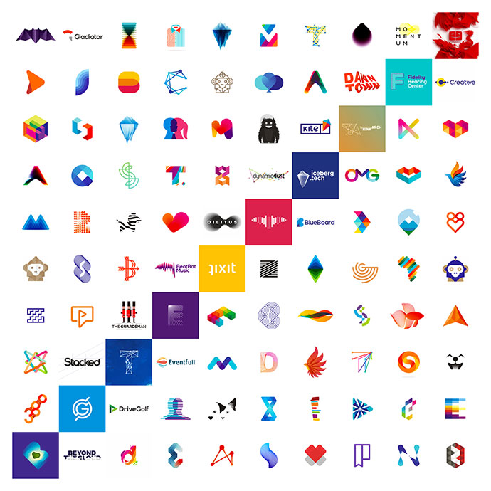 10 years, 100 logo design projects