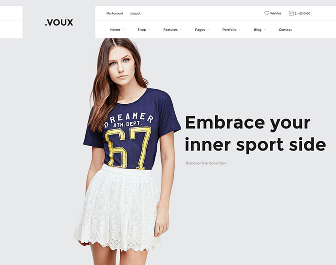 Voux Fashion Shopping Theme