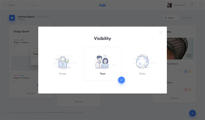 Trello Atlassian - Visibility