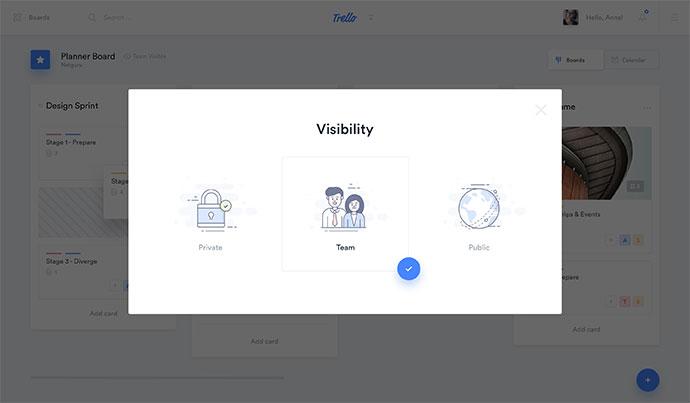 Trello Atlassian - Visibility