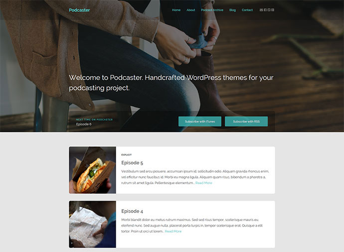 Podcaster - Multimedia WordPress Theme