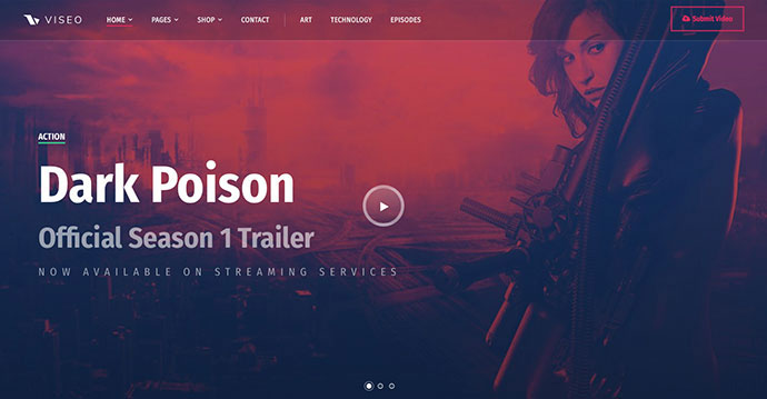 Viseo - News, Video, & Podcast Theme