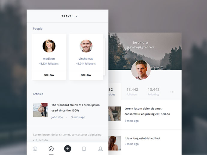 Discover & Profile Screen
