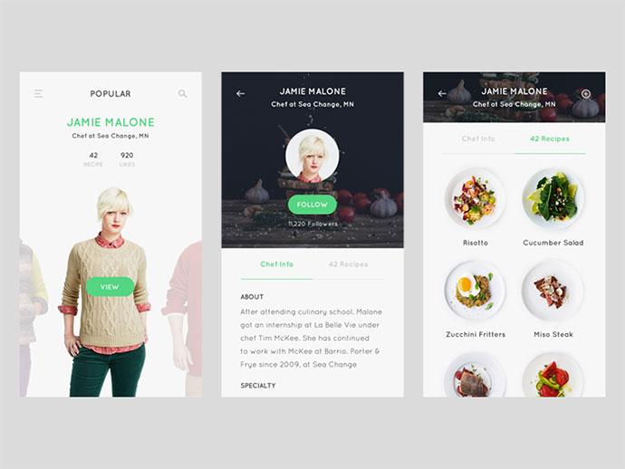 Profile screen - Recipe app