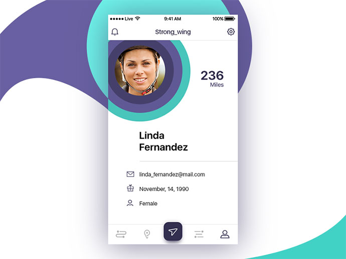 40 outstanding user profile ui designs web graphic design bashooka