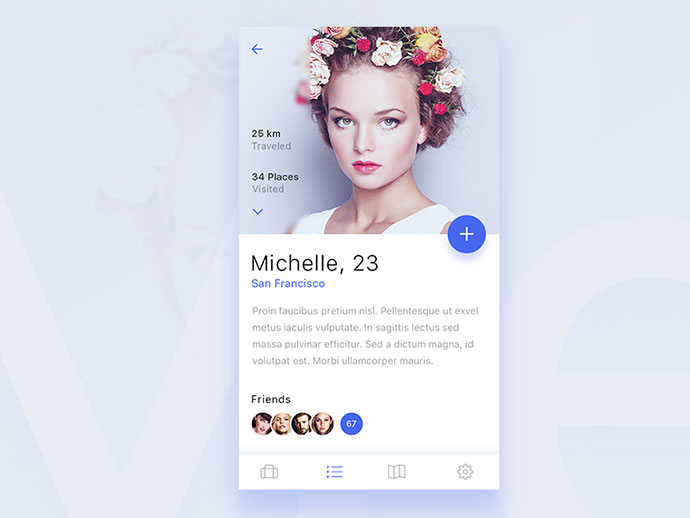 Profile screen for upcoming ios app