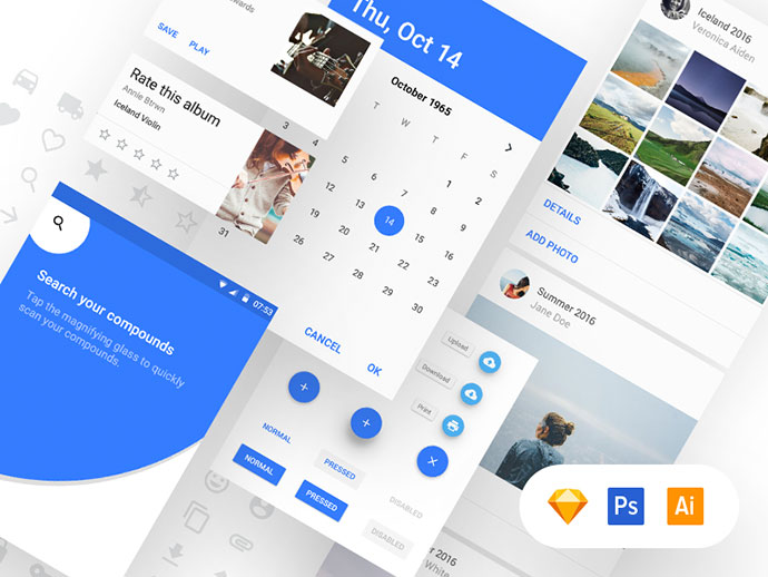 Material Design UI Kit [Free]