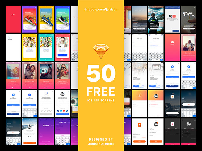 Sign In Project • 50 FREE iOS App Screens for Sketch