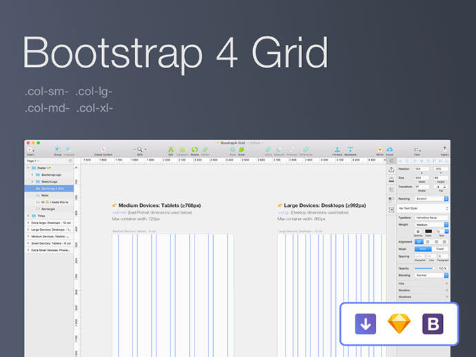 Bootstrap 4 Grid [Sketch]