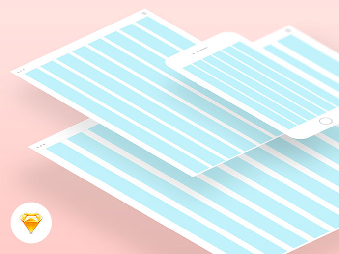 Free responsive grid for Sketch