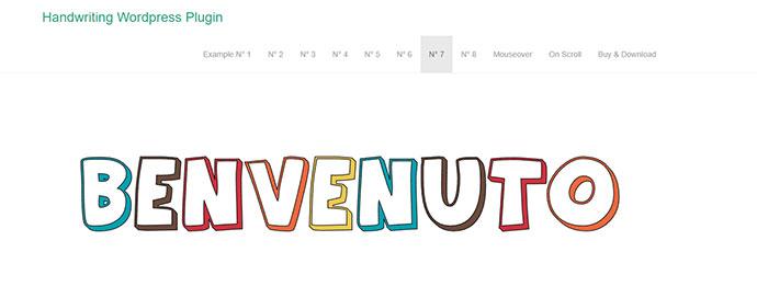 Responsive SVG Handwritting Text Animation - WordPress Plugin