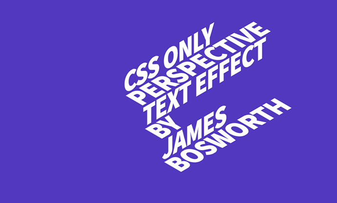 CSS Perspective Text Hover