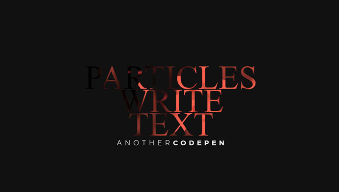 Particles write text