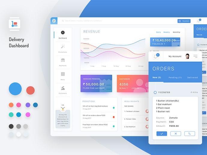 40 Great Dashboard Ui Designs 2017 Web Amp Graphic Design