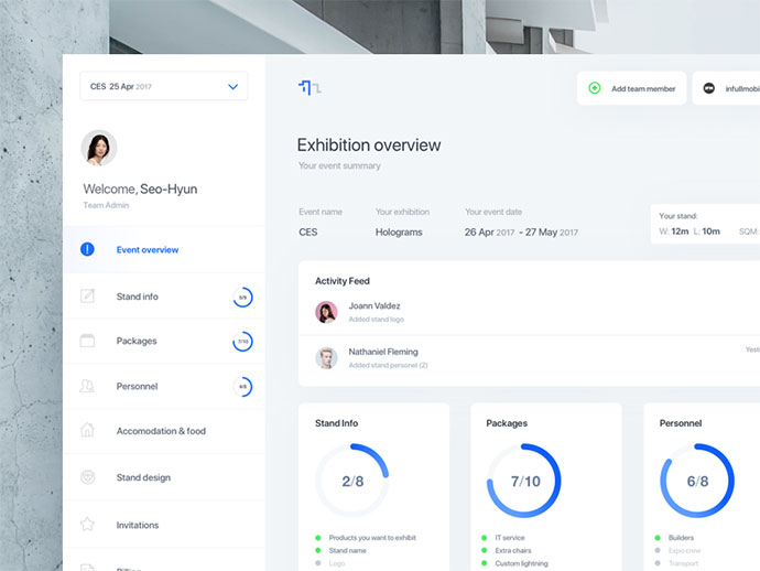 Web Design Dashboard