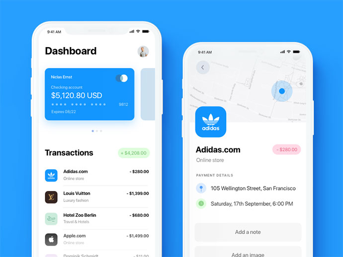 iPhone X Finance App
