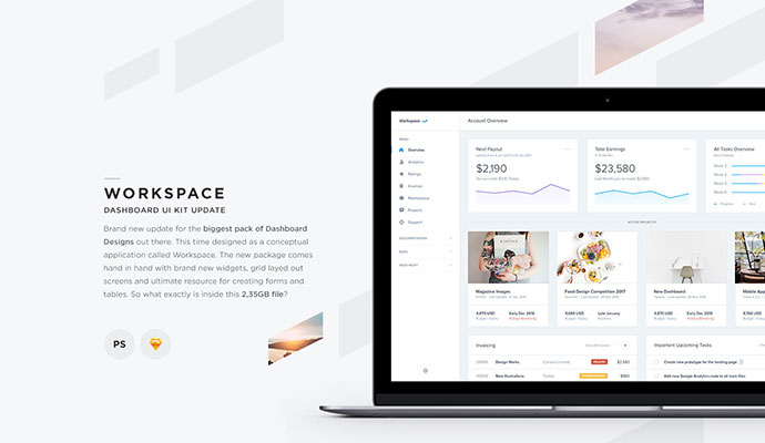 Workspace - Dashboard UI Kit Update