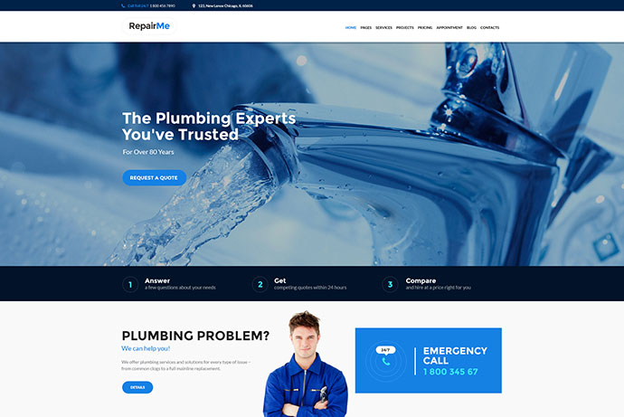 RepairMe - Construction & Renovation Theme