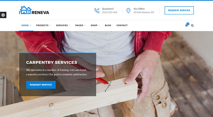 Reneva - WordPress Theme For Small Business + Online Booking