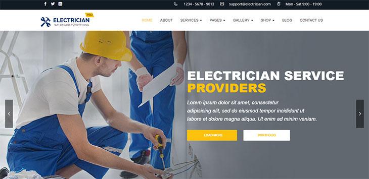 20 Amazing Electrician & Plumber WordPress Themes