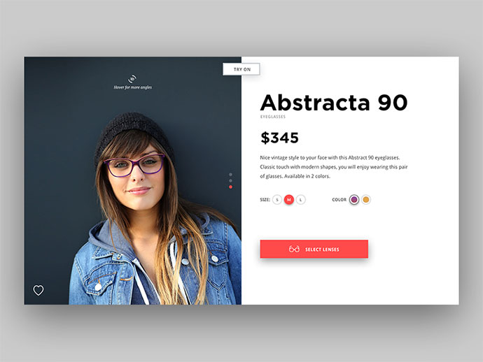 Eyeglasses Product Page