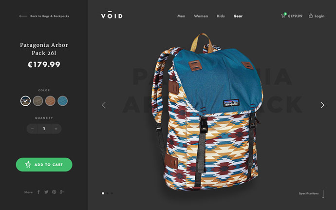 VOID - Product Page