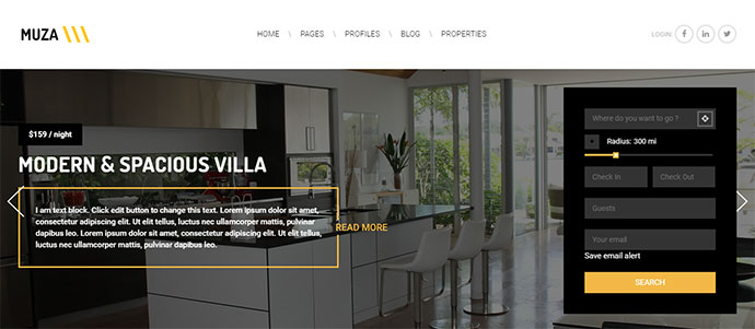 WordPress Vacation Rental by Owner Theme - Muza