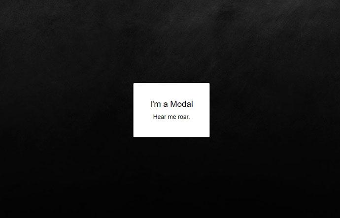 Modal Animations