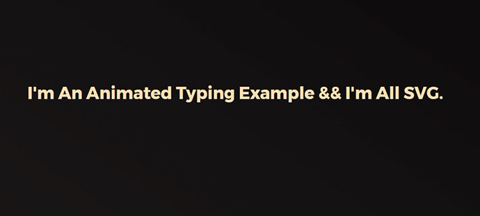 SVG Text: Animated Typing