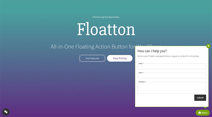 Floatton | WordPress Floating Action Button with Pop-up Contents for Forms or any Custom Contents