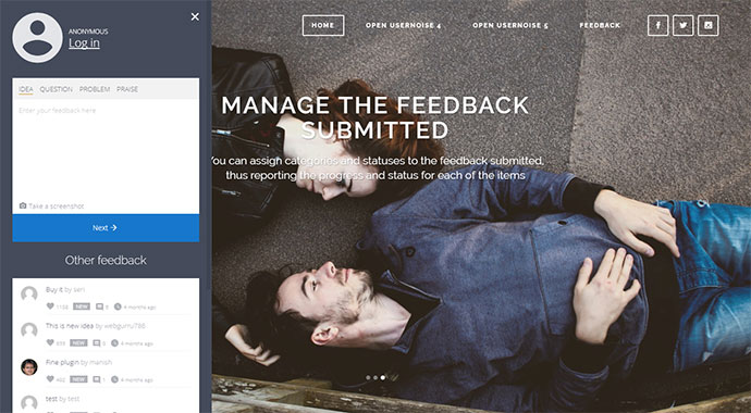Usernoise Pro Modal Feedback & Contact form