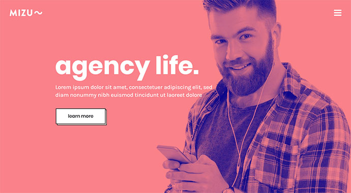 Mizu - A Theme for Designers, Agencies, and Creative Studios