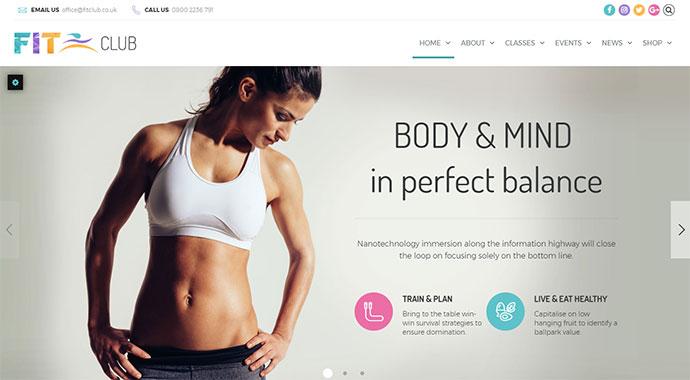 Fitness Club - Health & Fitness WordPress Theme