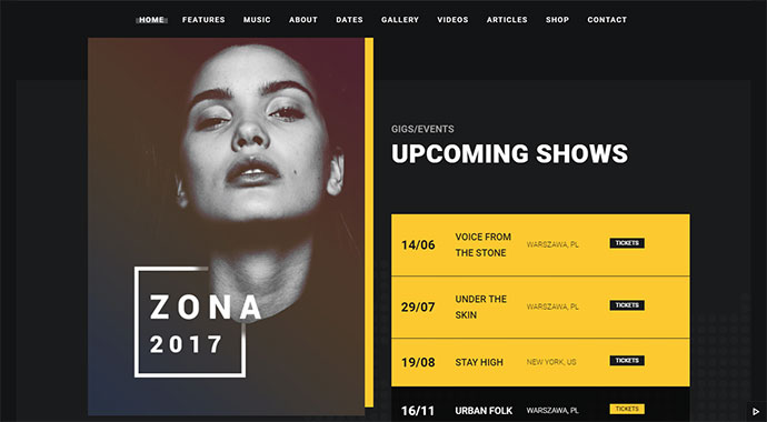 Zona - Multipurpose Music Theme