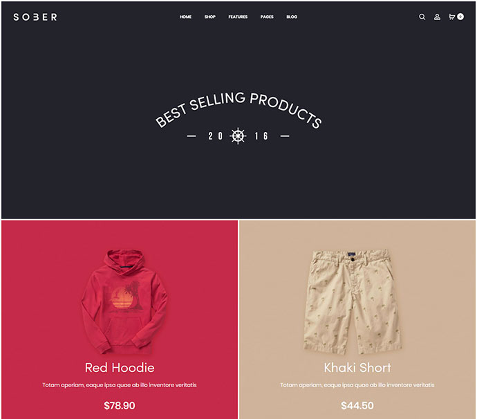 Sober - WooCommerce WordPress Theme