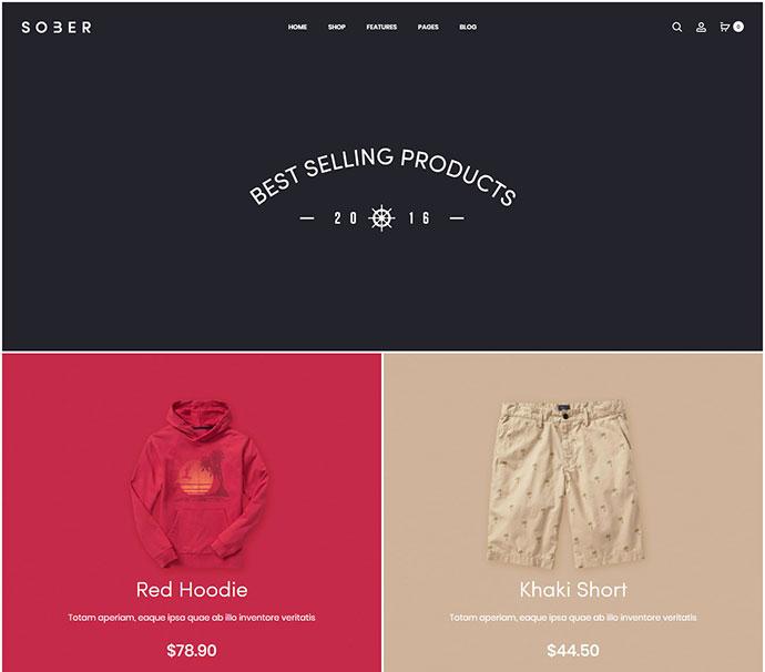 Sober - WooCommerce WordPress Theme