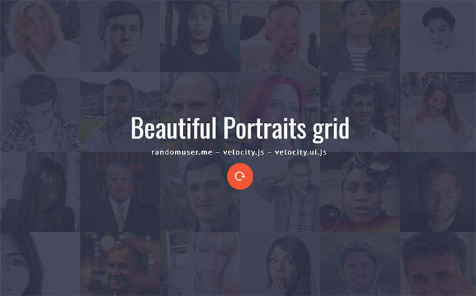 Beautiful Portraits grid